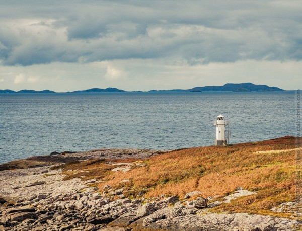 Approaching Rhue Lighthouse
