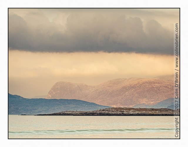Layers of rock and clouds, Isle of Harris